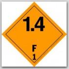 "4x4"" Class 1.4 Explosives Paper Labels F1 500/rl"