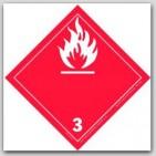 "4x4"" Class 3 Flammable Liquids Paper Labels 500/rl"
