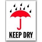 "3x4"" International Labels Keep Dry 500/rl"