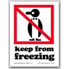 "4x6"" International Labels Keep From Freezing 500/rl"