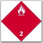 Gases Class 2 Self Adhesive Vinyl Placards 25/pkg
