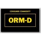 "1-1/2x2-1/2"" Labels ORM-D Consumer Commodity 1000/rl"