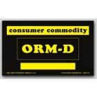 "3x5"" Labels ORM-D Consumer Commodity 500/rl"