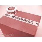 """2""""x55yd Packing List Enclosed Tape - 36rls/cs"""