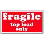 """5-1/2x8-1/2"""" Top Load Only Fragile Labels 500/rl"""