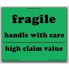 """8x10"""" High Claim Value Fragile Labels 500/rl"""