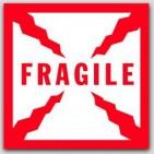 """2-1/2x2-1/2"""" Fragile Labels 500/rl"""
