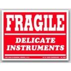 """3x4"""" Delicate Instruments Fragile Labels 500/rl"""