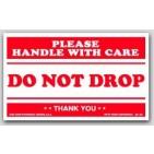 "3x5"" Do Not Drop Labels 500/rl"