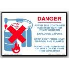 """4x6"""" Danger Explosive Vapors Labels 500/rl"""