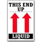 """4x6"""" This End Up Liquid Arrow Labels 500/rl"""