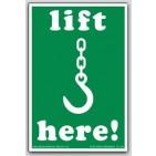 "3x4-1/4"" Lift Here Paper Labels 500/rl"