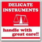 """4x4"""" Fragile Delicate Instruments Labels 500/rl"""