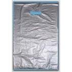 "12x3x18"" Silver HDPE Merchandise Bags 500/cs"