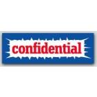 "1x3"" Confidential Labels 500/rl"