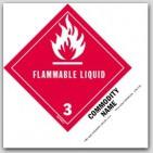 """Flammable liquid UN1263 5x4"""" Paper Labels 500/rl"""