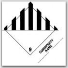 "Hazardous Waste Solid 5x4"" Paper Labels 500/rl"