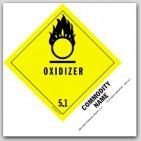 "Oxidizing Solid n.o.s. UN1479 5x4"" Paper Labels 500/rl"