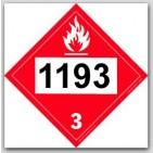 Printed UN1193 Ethyl Methyl Ketone Polycoated Tagboard Placards 25/pkg